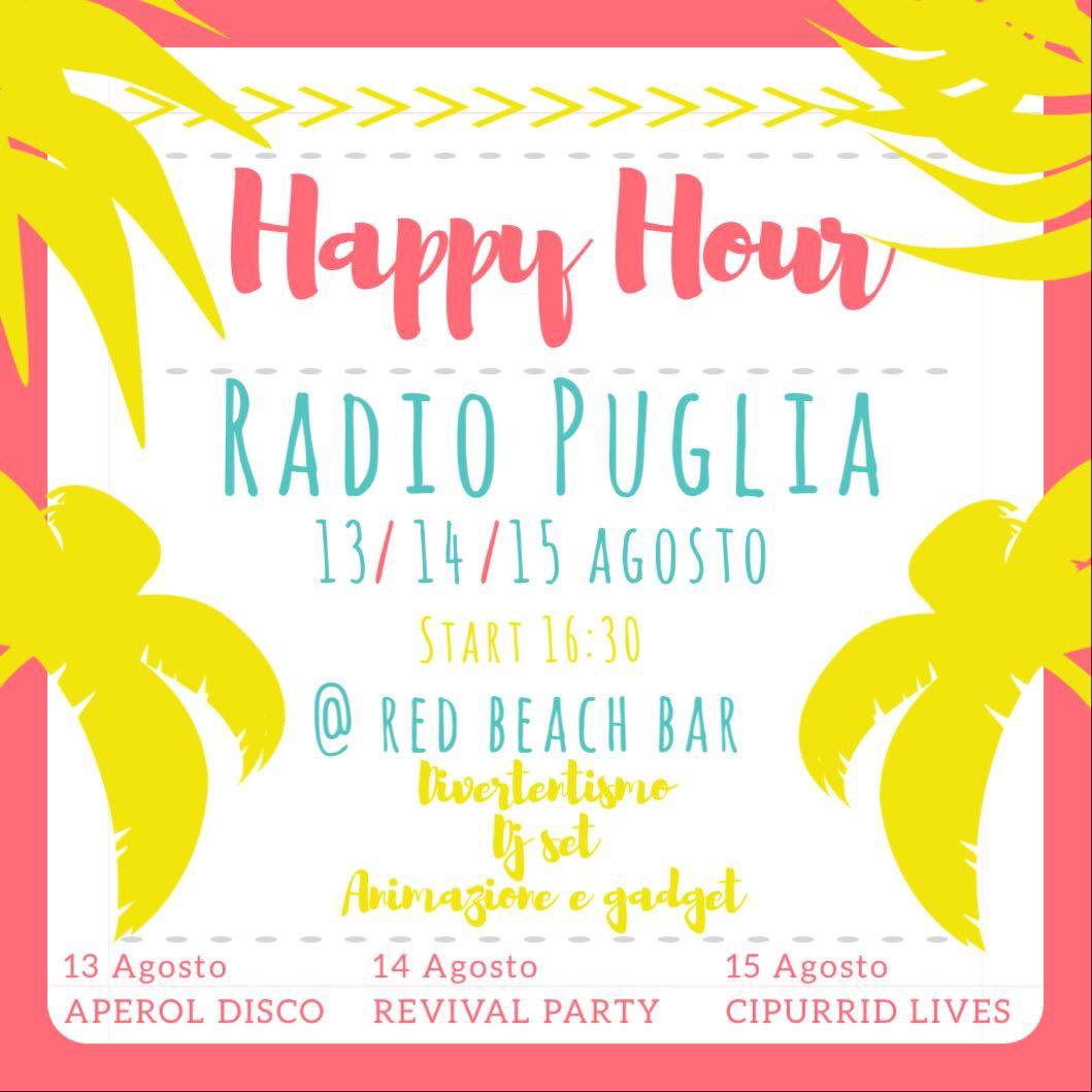 Locandina weekend di ferragosto Radio Puglia a Monopoli